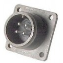 Threaded Box Mount Receptacle - Size 14, 2 Pin