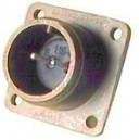 Threaded Box Mount Receptacle - Size 14, 9 Pin