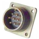 Threaded Box Mount Receptacle - Size 16, 1 Pin