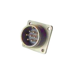 Threaded Box Mount Receptacle - Size 16, 7 Pin