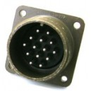 Threaded Box Mount Receptacle - Size 20, 27 Pin