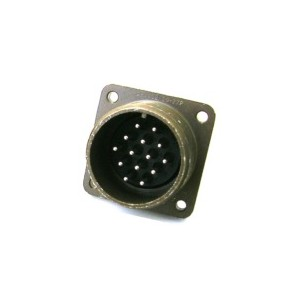 Threaded Box Mount Receptacle - Size 20, 14 Pin