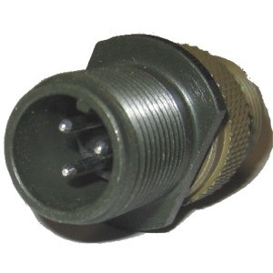 Threaded General Purpose Cable Connecting Receptacle - Size 10, 2 Pin