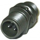 Threaded General Purpose Cable Connector Receptacle - Size 10, 2 Pin