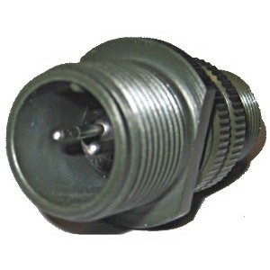 Threaded General Purpose Cable Connecting Receptacle - Size 12, 2 Pin