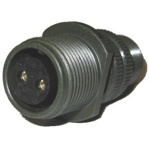 Threaded General Purpose Cable Connecting Receptacle - Size 12, 2 Socket