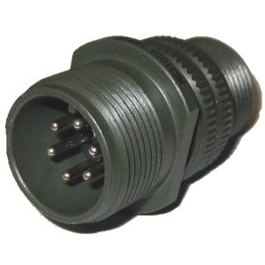 Threaded General Purpose Cable Connector Receptacle - Size 14, 6 Pin