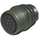 Threaded General Purpose Cable Connector Receptacle - Size 20, 14 Socket