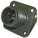 Threaded Box Mount Receptacle - Size 10, 3 Pin