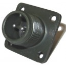 Threaded Box Mount Receptacle - Size 10, 2 Pin
