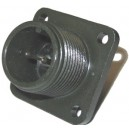 Threaded Box Mount Receptacle - Size 12, 2 Pin