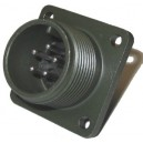Threaded Box Mount Receptacle - Size 14, 5 Pin