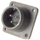 Threaded Box Mount Receptacle - Size 14, 3 Pin