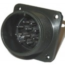 Threaded Box Mount Receptacle - Size 18, 10 Pin