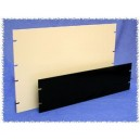 "Hammond Aluminum Rack Panel 1.75"", 1U, 4 Slot - Black"