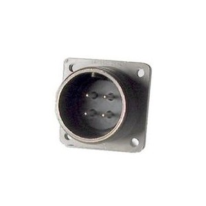 Threaded Grommet Seal Panel Mount Cable Connector Receptacle - Size 18, 4 Pin