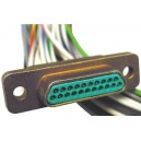 Cannon 21 Pin Micro-D(M) Connector w/Leads